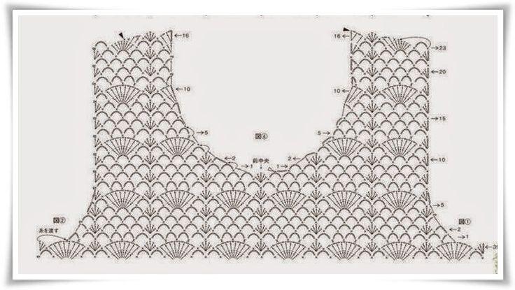 Utilissima raccolta di schemi per corpetti a uncinetto
