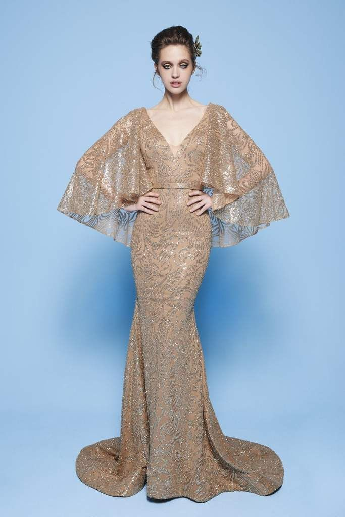 Mnm Couture N0245 Sequin Embellished Mermaid Gown With