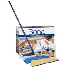 Bona is supposed to be the very best there is for cleaning and maintaining hardwood floors