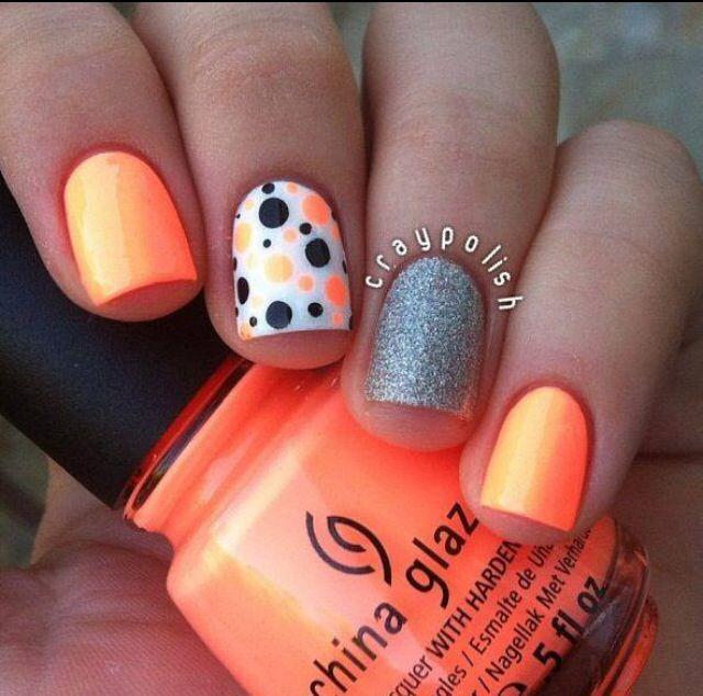 Neon orange!