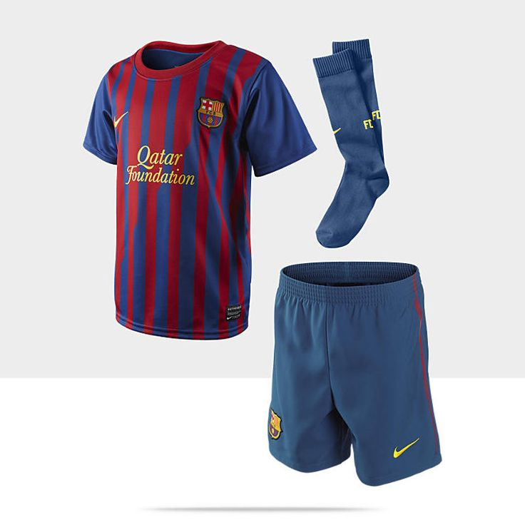 2011/12 FC Barcelona Official Home (3y-8y) Little Boys' Football Kit