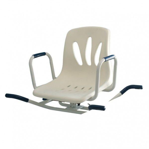 ASIENTO GIRATORIO DE BAÑERA - REF: AYSC 6040B: está fabricado en acero inoxidable epoxi lo que le proporciona una constitución muy robusta. El asiento queda emplazado firmemente en la bañera.