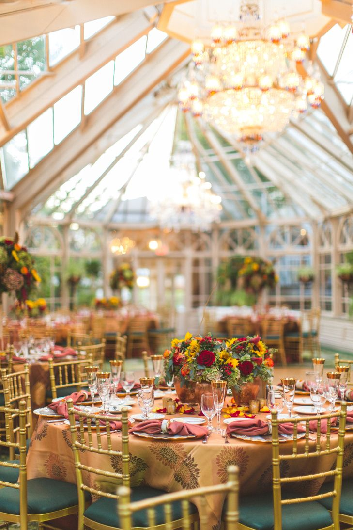 Grand Conservatory at The Brownstone Wedding Reception | BBJ Linen | A Touch of Elegance Floral & Event Design https://www.theknot.com/marketplace/a-touch-of-elegance-floral-and-event-design-randolph-nj-381785 | Jenny Orsini Events https://www.theknot.com/marketplace/jenny-orsini-events-randolph-nj-381547 | Concept Photography https://www.theknot.com/marketplace/concept-photography-orlando-fl-157107