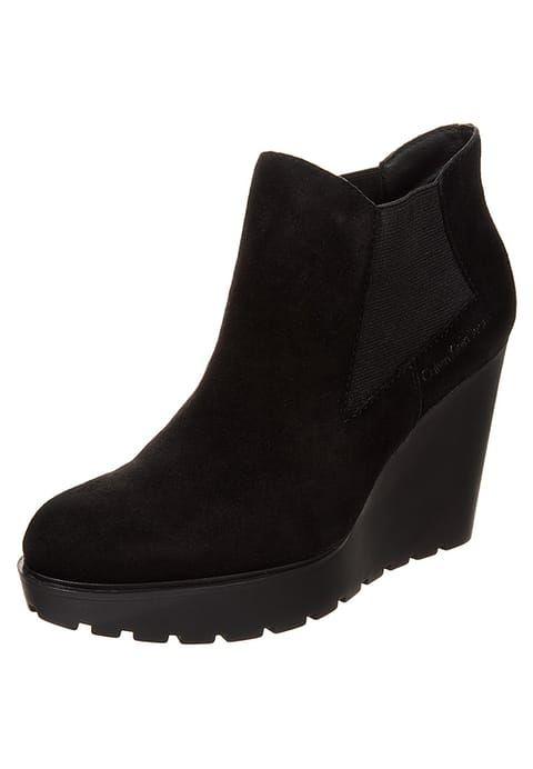 Chaussures Calvin Klein Jeans SYDNEY - Bottines compensées - black noir: 98,00 € chez Zalando (au 09/01/17). Livraison et retours gratuits et service client gratuit au 0800 915 207.