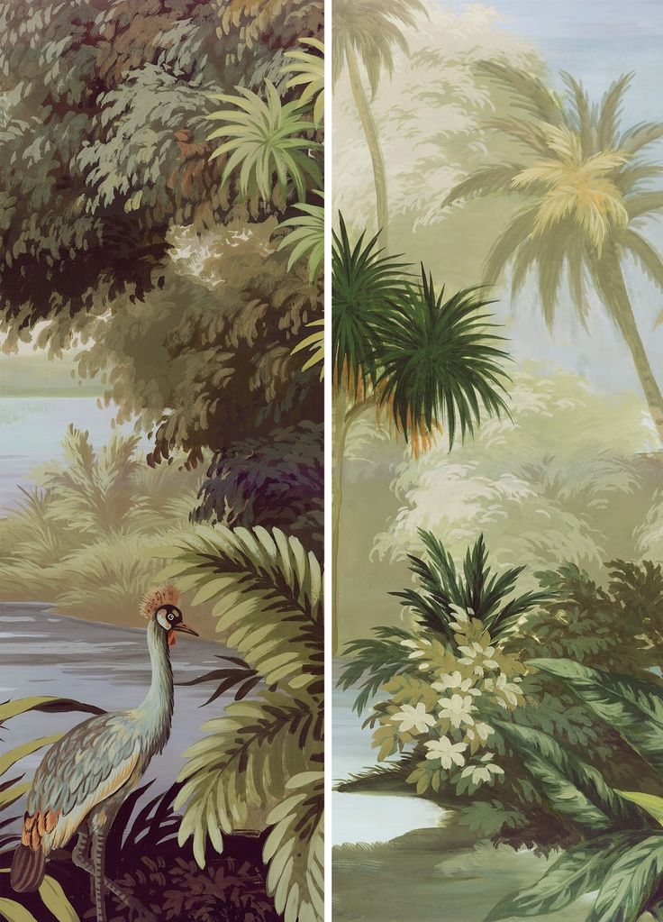 Lovely tropical wallpaper design!