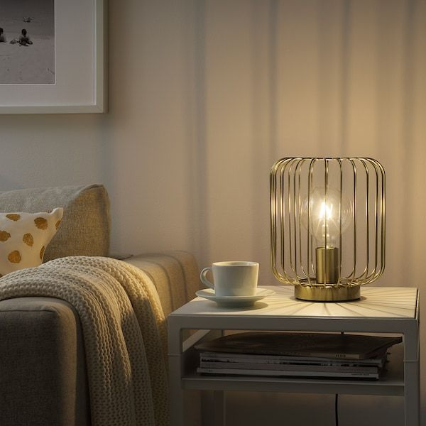 FLAGGSKEPP Table lamp, brass plated IKEA in 2020 | Brass