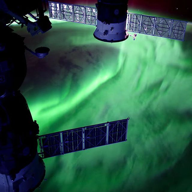 explorenasa This still shows a stunning aurora captured from the International Space Station. Auroras are a space weather phenomenon that occur when electrically-charged electrons and protons collide with neutral atoms in the upper atmosphere. The dancing lights of the aurora provide a spectacular show for those on the ground, but also capture the imaginations of scientists who study the aurora and the complex processes that create them. This frame is from a compilation of ultra-high…