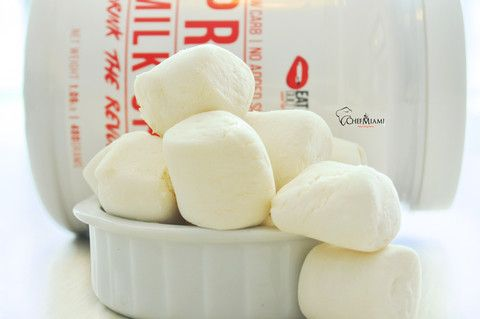 Protein Marshmallows Chef Miami | Protein Marshmallows Ingredients 1 scoop eatmeguiltfree Vanilla Protein Powder 1 cup water 1tsp vanilla extract 5 tbs Gelatin powered Xylitol (optional) Method Step 1 In...