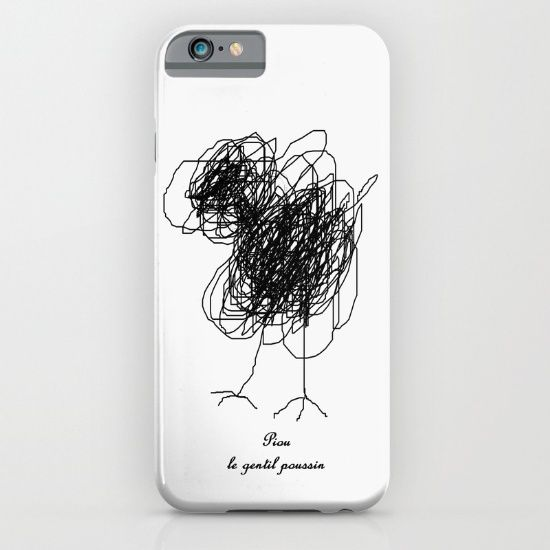 Piou le gentil poussin. https://society6.com/product/piou-the-chick_iphone-case?curator=boutiquezia