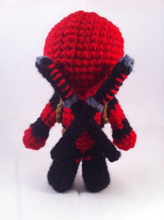 PDF CROCHET PATTERN Deadpool Inspired Chibi by AmiAmaLiliumDesigns