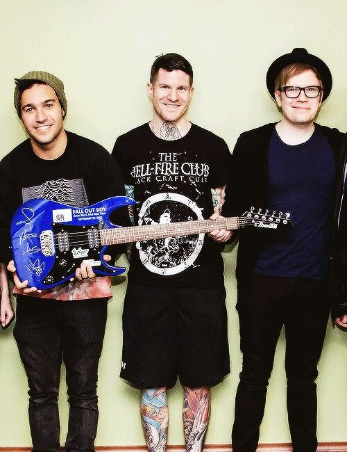 Pete Wentz, Andy Hurley,  and Patrick Stump