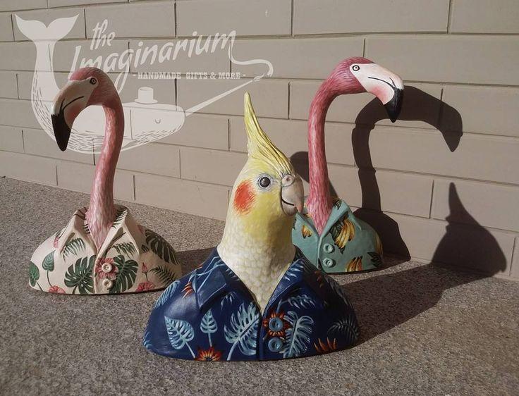 """25 """"Μου αρέσει!"""", 4 σχόλια - The Imaginarium (@theimaginariumkos) στο Instagram: """"Custom made order,Cockatiel parrot for a wedding present !!!☺ #customade #art #handmade…"""""""