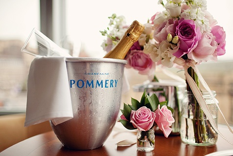 Champagne + flowers