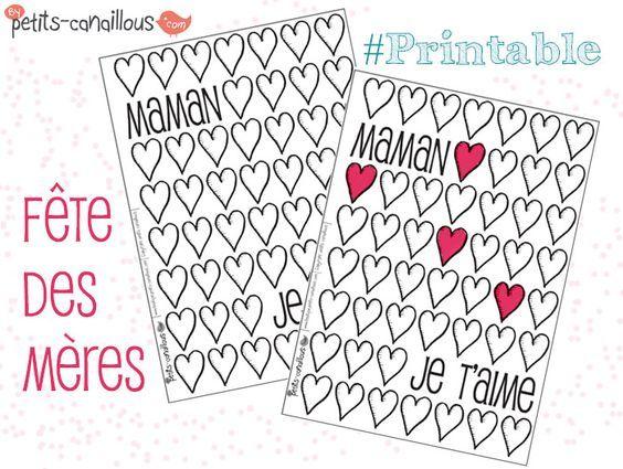 Petits canaillous   Des cœurs à colorier pour la fête des mères   http://www.petits-canaillous.fr: