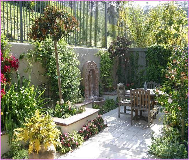 Amazing Mediterranean Courtyard Garden | Mediterranean Courtyard Garden Ideas Pictures Gallery