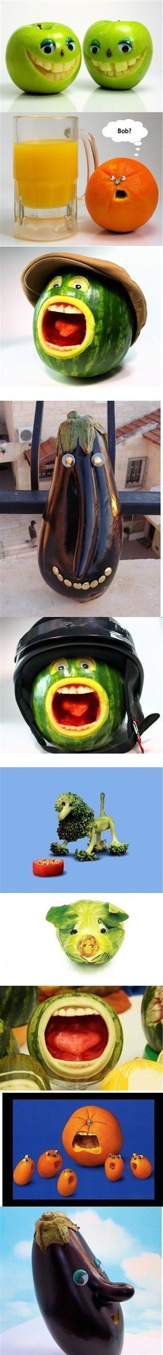 Fruit faces