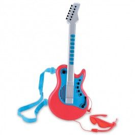 Superstar Toy Electric Guitar - Educational Toys Planet. Great gift for 3 years old child. Become the next rock star with this ELC's cool kids electric guitar! Develops Skills - music playing, sensory exploration, performing skills, pretend play. #toys #learning #educational #gifts #child https://www.educationaltoysplanet.com/superstar-toy-electric-guitar.html