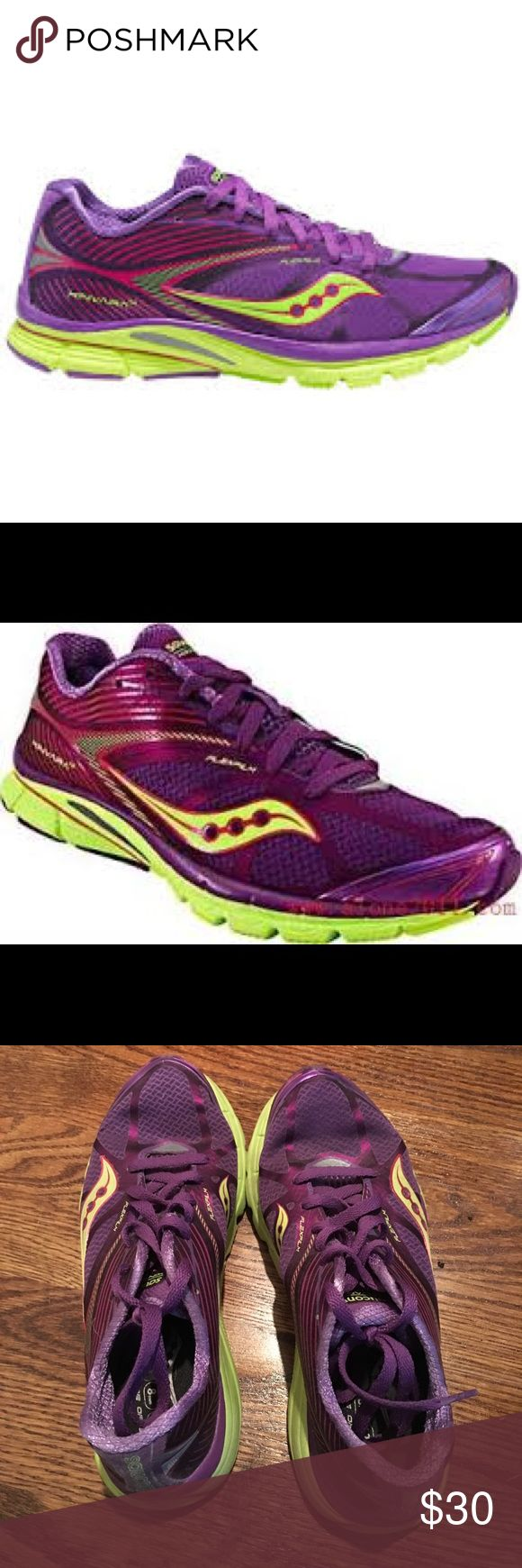 SALE Saucony PowerGrid Kinvara 4 purple Good used condition.  Plenty of life. Saucony Shoes Athletic Shoes