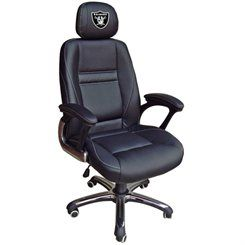 Oakland Raiders Leather Office Chair - Black