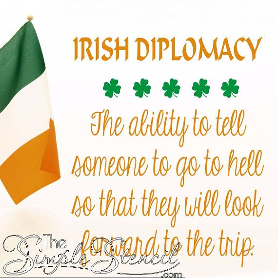 24 best Irish Blessings & Proverbs Wall Decals & Stencils images on ...
