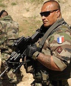 French Foreign Legion....   A Polynesian maori warrior...