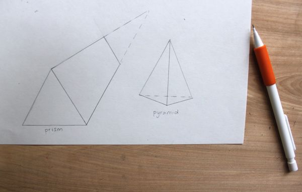 how to draw 3d triangle