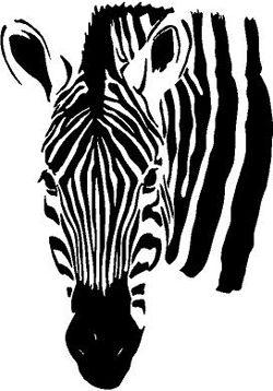 Zebra Head   Wall Decals