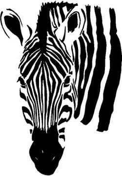 Zebra Head | Wall Decals
