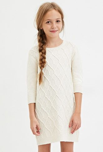 Girls Cable Knit Sweater Dress (Kids) | Forever 21 girls - 2000146207