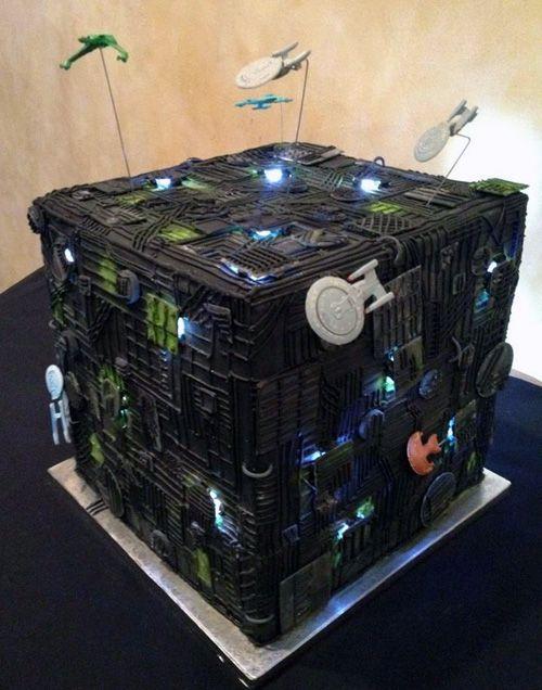 We Are The Borg Wedding Cake by Sugar Plum Cake Shoppe.
