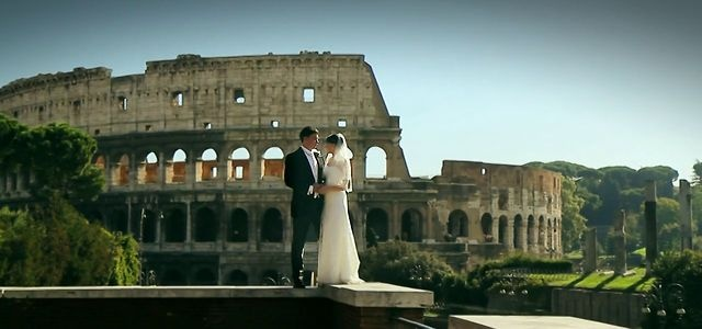 Engagement and wedding in Italy and Rome. Elena and Denis had their big day ceremony in a new city for them. To reflect the atmosphere and share their luxury wedding they invited professional event videograhpers Alexander Znaharchuk and Kristina Kremko to Rome. Have a look at this piece of art!