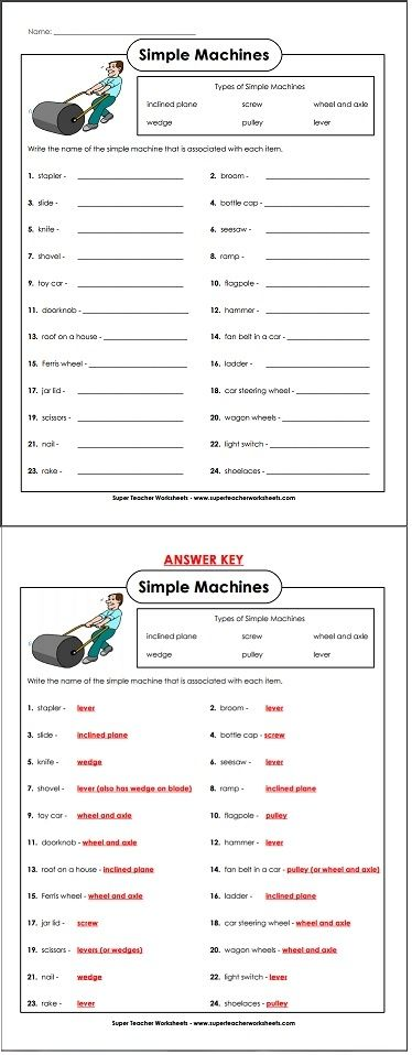 Many everyday objects are actually simple machines. Can you identify them correctly?