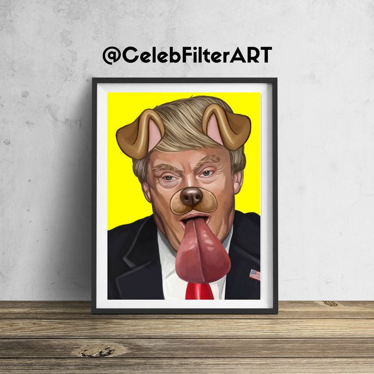 CelebFilterArt donates a portion of all profits to a non-profit funding arts programs in public elementary schools.  This original Donald Trump wall art will be sure to stop people in their tracks... and for a good cause!  Printed to order (not mass produced) using heavyweight professional endura premier paper.  Every piece sold helps foster the creativity, dreams, hopes, and imaginations of our children.  FREE SHIPPING FRAME NOT INCLUDED