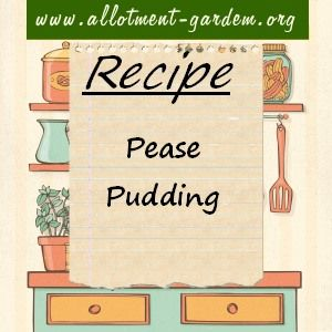 Recipe for Pease Pudding. Especially good with boiled ham and roast pork. Serves 4.