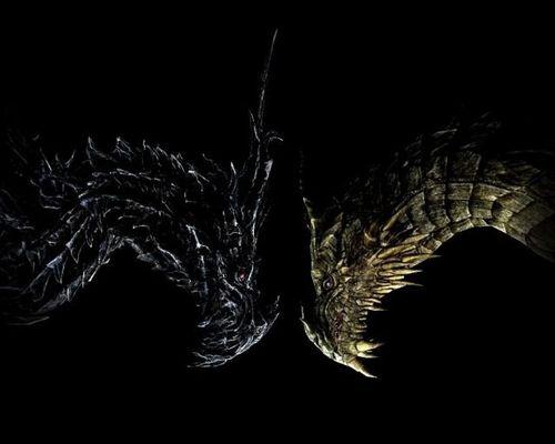 Alduin vs Paarthurnax