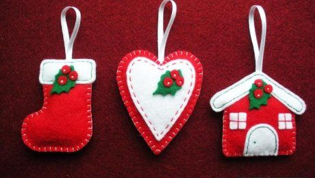 Рождественские поделки из фетра своими руками. Мастер класс с пошаговыми фото.