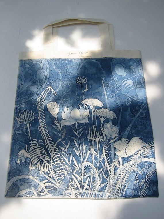 Light Weight Aquatint eco bag      /      By Jun Shirasu