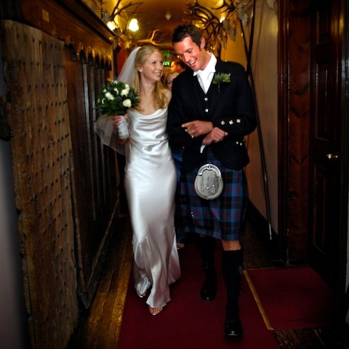 Heading to the Ballroom at Blair Castle.