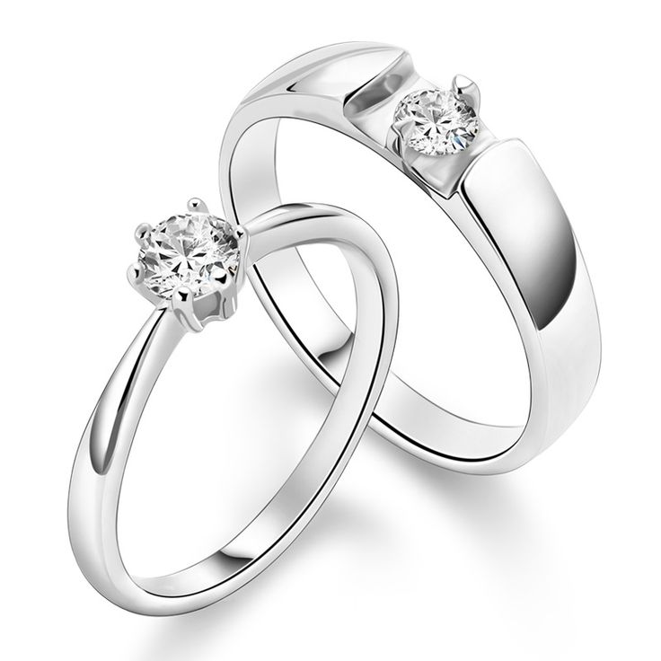 Couple 925 Sterling Silver Mens Ladies Promise Ring Wedding Bands @Yoyoon.com