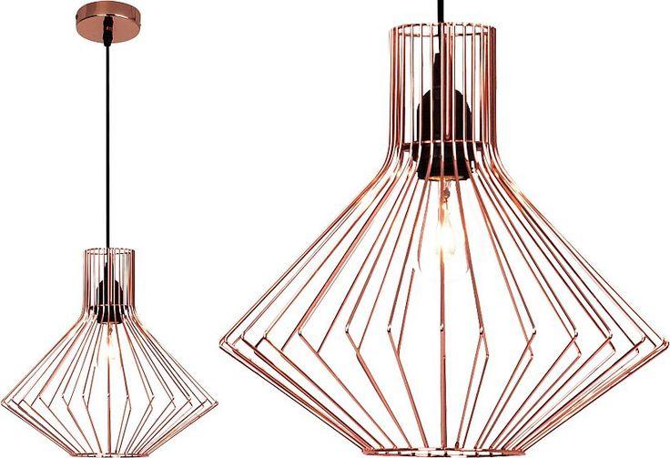 Lampa sufitowa ażurowa w kolorze miedzi Moc żarówki: 60W Rodzaj trzonka: E27