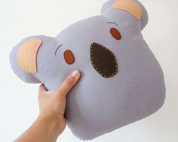 Koala Pillow Cushion Animal Plush Made to by TheFoxintheAttic, £25.00