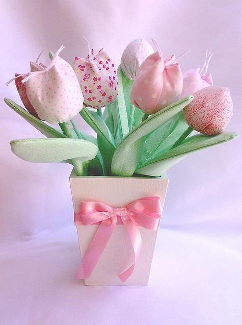 tulipas Tecido