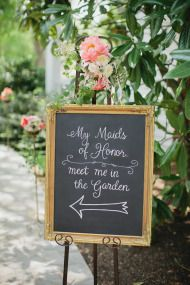 Bridal shower tea party signage