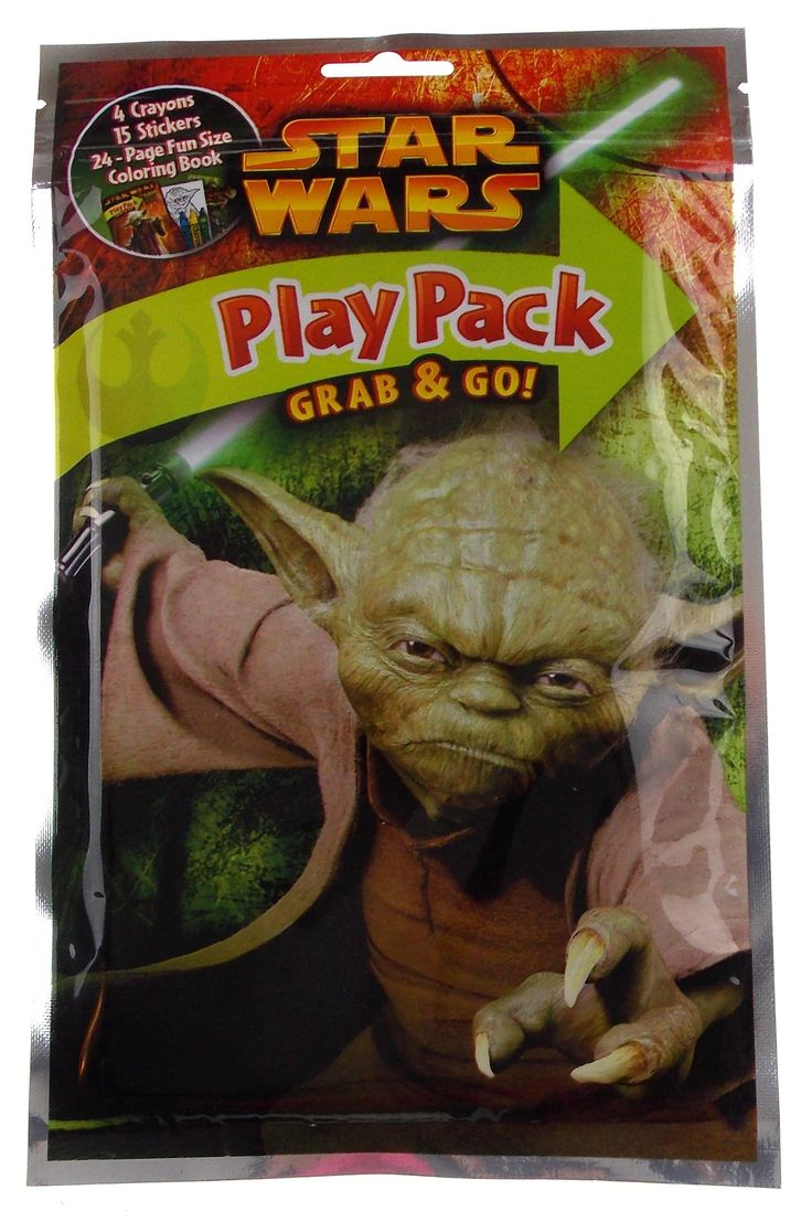Star Wars Play Pack Yoda Grab & Go Set 8 Coloring Book Crayons Stickers Favors