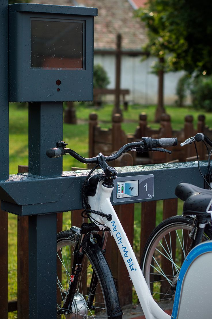 Electric Public Bike Rental System - You can rent a bike by means of the Touch Info Panel