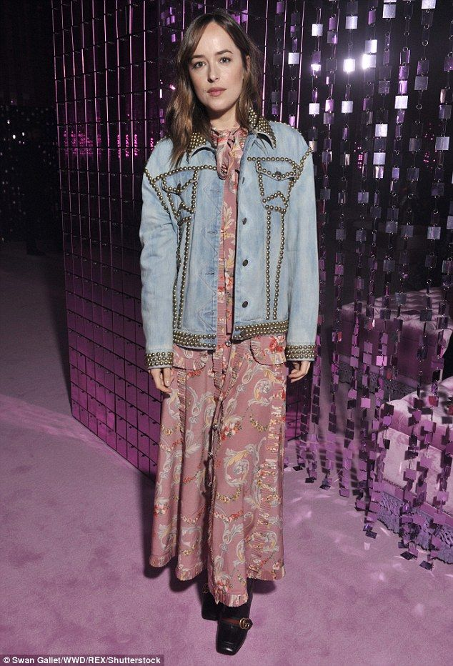 Put the pedal to the metal in a studded denim jacket by Gucci #DailyMail  Click 'Visit' to buy now