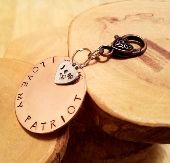 PATRIOT Jeep Legacy line hand stamped copper by OklahomaMama