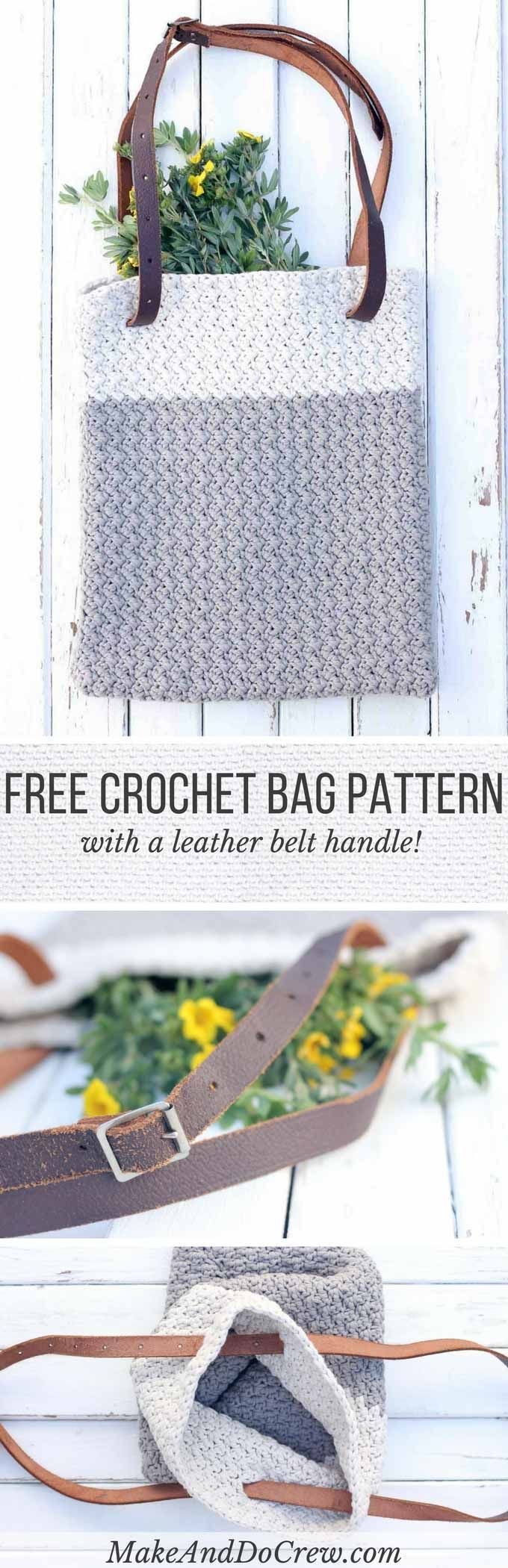 Use a simple leather belt to update this easy crochet bag pattern for fall. Pair it with a unique watch for the perfect minimalist fall statement pieces.