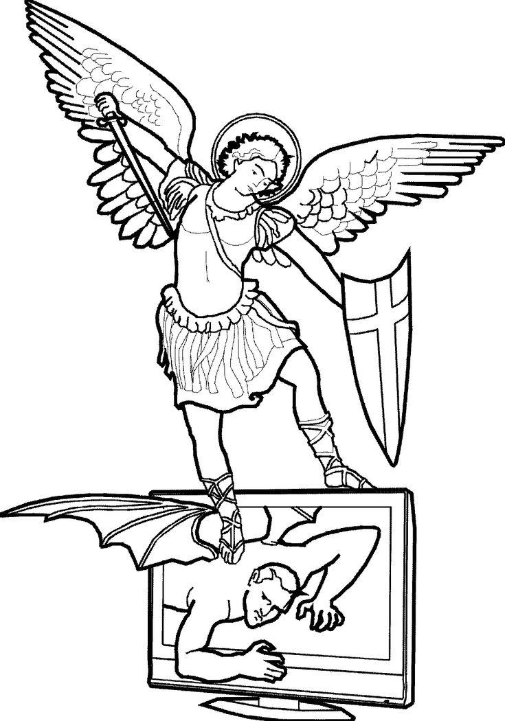 Saint Gabriel The Archangel Coloring
