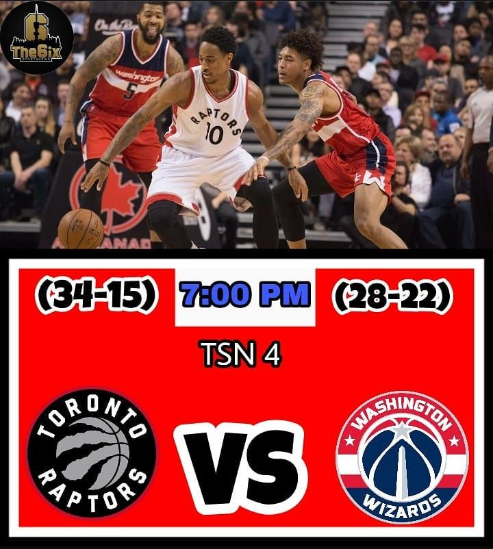 The Raptors will face the Washington Wizards today at 7:00 PM and look to win 3-games in a row. Tune in on TSN 4 or radio TSN 1050 Toronto. . . . . #warriors #nba #basketball #nyknicks #knicks #raptors #torontoraptors #celtics #bostonceltics #sixers #philadelphiasixers #nets #lbj #playoff #heatnation #letsgoheat #ilovethisgame #slam #court #myteam #rockets #ballers #buckets #baloncesto #streetball #ballup #nbamemes #pelicans #hornets #mavericks